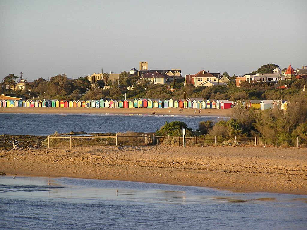 Boat Houses at Brighton Beach